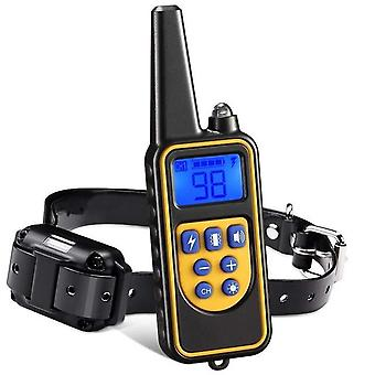 Waterproof Rechargeable Pet Electric Training Collar, With Remote & Lcd Display