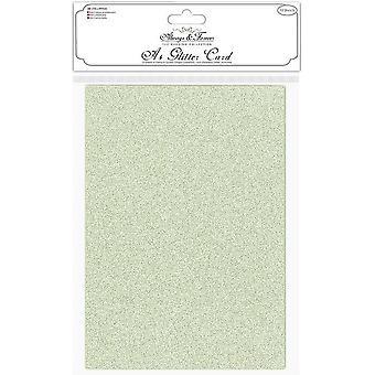 Craft Consortium Glitter -kortti A4 Sage