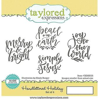 Taylored Expressions Handlettered Holiday