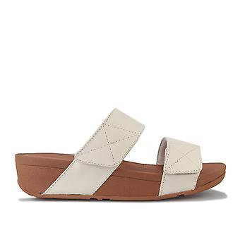 Women's Fit Flop Mina Leather Slide Sandals in Cream