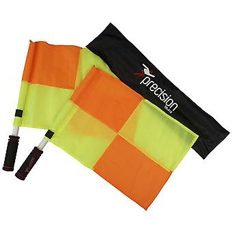 Precision Deluxe Linesman Referee Football Rugby Flag Set Chequered