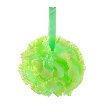 Nylon Lace Edge Home Bath Flower Ball Green 15CM