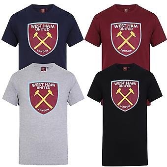 West Ham United Mens T-Shirt Crest OFFICIAL Football Gift