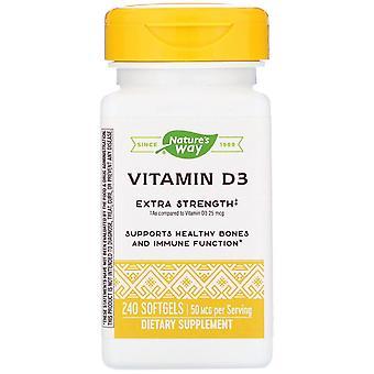 Nature-apos;s Way, Vitamine D3, 50 mcg, 240 Softgels