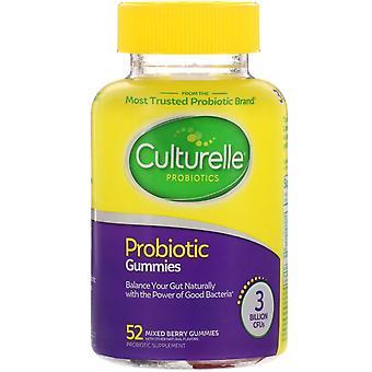 Culture, Gummies probiotiques, Baies mélangées, 3 Milliards d'USI, 52 Gummies