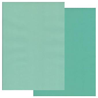 Groovi Parchment Paper A4 Two Tones Turquoise-Light Turquoise