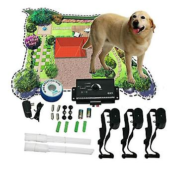 Electronic dog fencing system underground shock collar pet training device