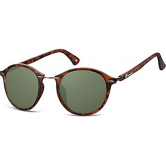 Sunglasses Unisex Panto Flamed Brown/Green (S22)