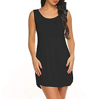 Afloda Womens Cover up Dress Summer Casual Tank T Shirt Beach Dress (Preto, X...