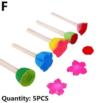 1 Set Sponge Paint Brush Seal Painting Giocattolo educativo per bambini - Diy Graffiti Sponge Brushes Funny Toys Art Supplies Drawing Toys