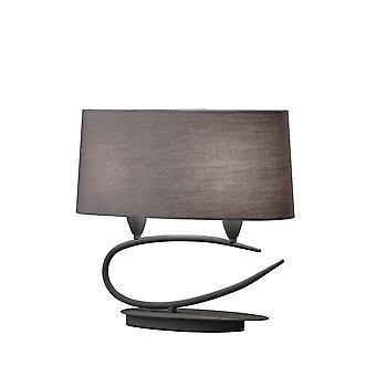 Lampada da tavolo 2 Light E27, grigio cenere con sfumature di grigio ash