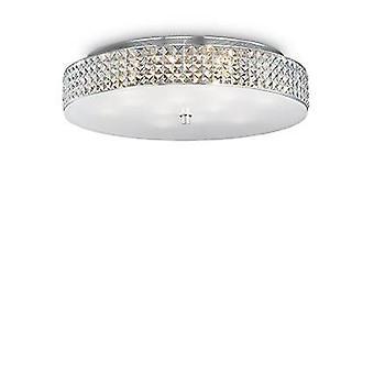 Ideal Lux Roma - 12 luz grande flush techo luz cromo, G9