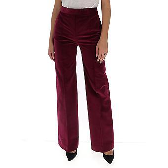 Pantalon en coton Bourgogne Victoria Beckham 2320wtr001480a Femmes