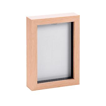 Nicola Frühling Licht Holz Effekt 5 x 7 Box Fotorahmen - stehend & hängend
