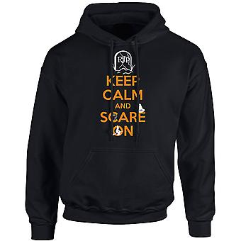 Keep Calm Scare On Spooky Halloween Unisex Hoodie 10 Colours (S-5XL) by swagwear
