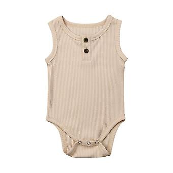 Baby Knit Solid Ribbed Bodysuit -salopetă, Costume de bumbac