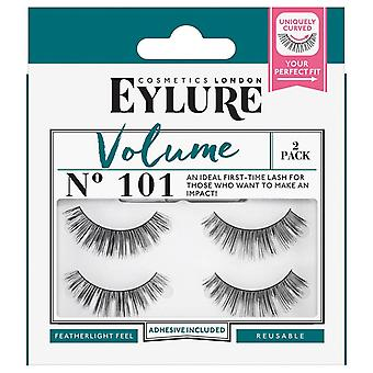 Eylure Volume Strip Lashes - No 101 - Handmade and Reusable with Glue - 2 Pack