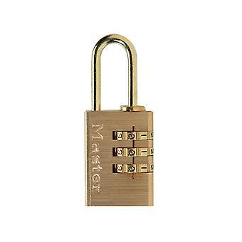 Master Lock Mässing Finish 20mm 3-Siffrig kombination hänglås MLK620