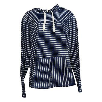 Anybody Women's Cozy Knit Light French Terry Hoodie Blue A306955