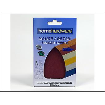 Home DIY (Paint Brushes) Sanding Mouse Red Plain Coarse x 5 006889