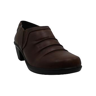 Easy Street Women's Shoes Cleo Leather Almond Toe Ankle Fashion Boots
