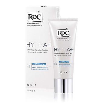 RoC Hydra+ 24h Comfort Hydrating Cream 40ml Normal/Combination Skin
