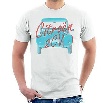 Citroen 2CV Graafinen tyyli Miesten t-paita