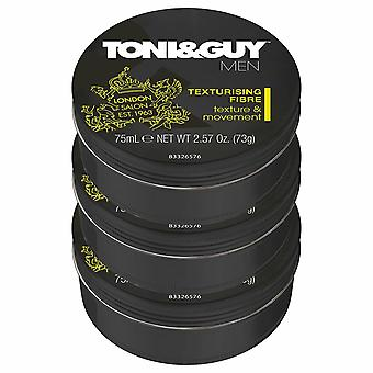 Toni&Guy Men Styling Texture and Bounce Fibre - 75ml (3 Pack)