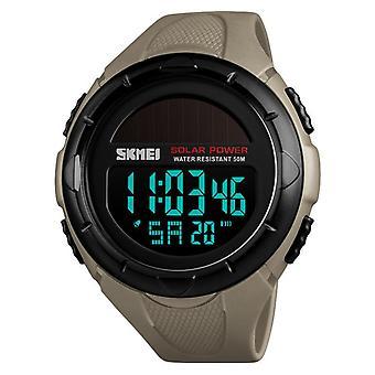 SKMEI 1405 Solar Power Digital Watch Stopwatch Luminous Display Alarm Calendar