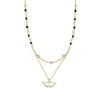 Doppel-Kette Flügel Gold Halskette