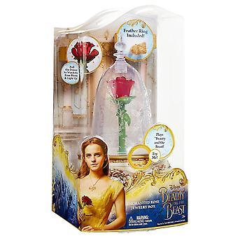 A beleza e a besta encantaram a caixa de jóia de rosa