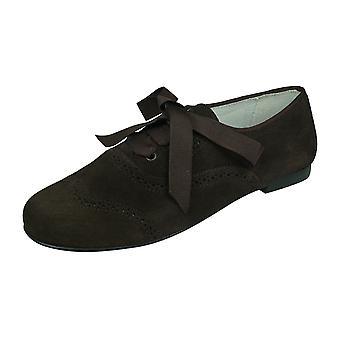Cool Girls Amy Småbarn Mocka Läder Brogue / Snör upp skor - Brun