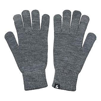 Jack & Jones Barry Knitted Gloves - Grey Melange