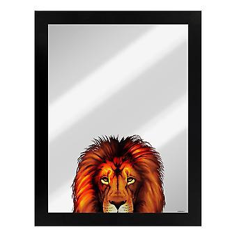 Inquisitive Creatures Lion Mirrored Plaque