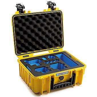 B&W GoPro Case Type 3000 para GoPro Hero 9 con inserto de espuma, amarillo