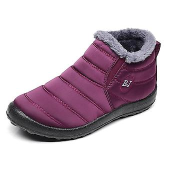 Men Snow Boots, Ankle Winter Warm Waterproof Ski Shoes