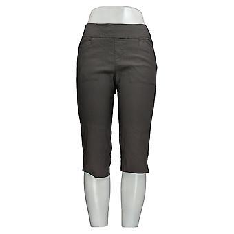 Lee Women's Pants Sculpting Mid Rise Cropped Leg Gray