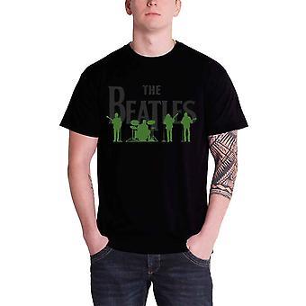 البيتلز تي قميص سافيل صف خط حتى الفرقة شعار الرسمية الرجال أسود جديد