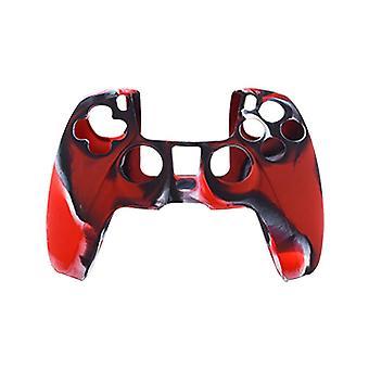 Playstation 5 / PS5 Silikonowa powłoka - Kamuflaż czerwony/czarny