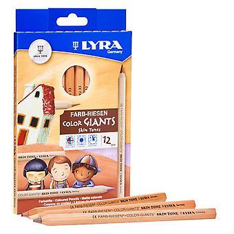 Color Giant Colored Pencils, 6.25Mm, Skin Tones, 12 Colors