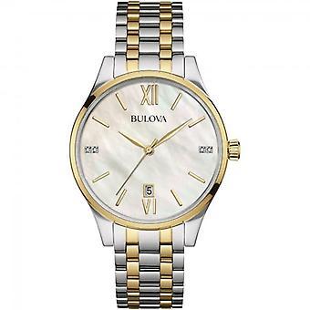 ブローバ 98S149 ウィメンズ&アポス;s ダイヤモンド コレクション ツー トーン腕時計