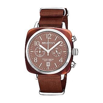 Briston 20140.SA.T.37.NTCH Clubmaster Classic Terracotta Acetate Wristwatch Brown
