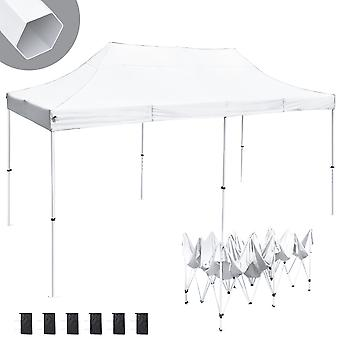 Instahibit 10x20 ft Pop Up Canopy Tent CPAI-84 Commercial Trade Fair Ez Pop up Canopy Shade Party Tent