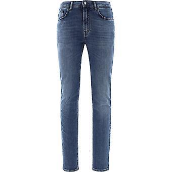 Acne Studios B00148northmidblue Men's Blue Cotton Jeans