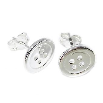 Button Sterling Silver Stud Oorbellen .925 X 1 Paar knoppen studs