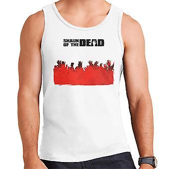Shaun of the Dead Zombie Hands Silhouette Men's Vest