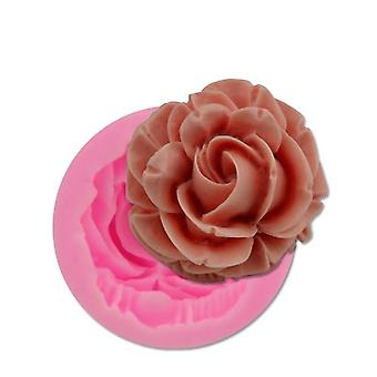 Bloom Rose Silicone Cake, 3d-flower Mold, Cupcake Jelly, Candy Chocolate,