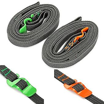 IPRee Outdoor Camp Binding Rope Tie-Up Ribbon Adjustable Puller Strap With Buckle Hook For Travel Lu
