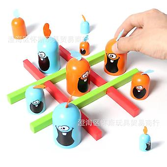 Fun Gobblet Gobblers Board Game Educational Family Interactive Toy (a)