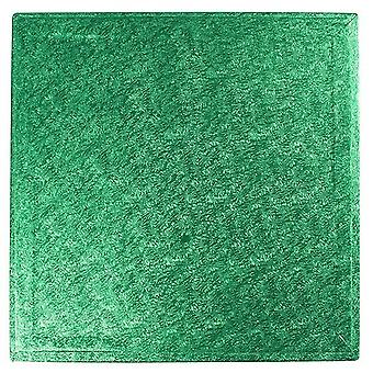 10&; (254mm) Cake Board Square Green - pojedynczy